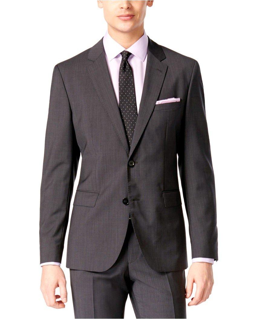 Hugo Boss Men's Charcoal Extra Slim Fit 2 Piece Suit C-Jeffrey C-Simmons by Hugo (46L US X40 W)