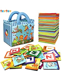 TEYTOY Baby Toy Zoo Series 26pcs Soft Alphabet Cards with Cloth Bag for Over 0 Years BOBEBE Online Baby Store From New York to Miami and Los Angeles