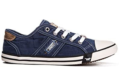 sports shoes d9809 e3351 Mustang Shoes Damen Schuhe Sneaker jeansblau