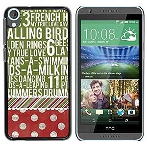 Be Good Phone Accessory // Dura Cáscara cubierta Protectora Caso Carcasa Funda de Protección para HTC Desire 820 // Dot Text Vintage Red Green Pattern