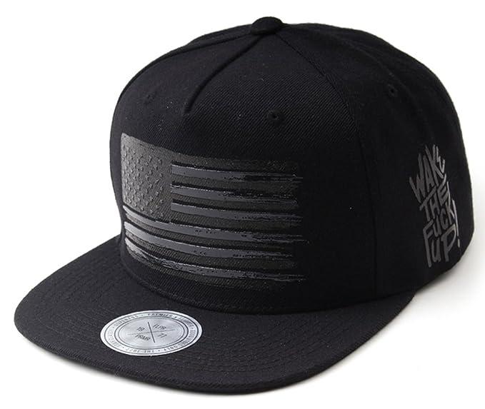 e4f6b35b847 Flipper Black American Flag Flat Bill Baseball Cap Snapback Hat for Men  Women