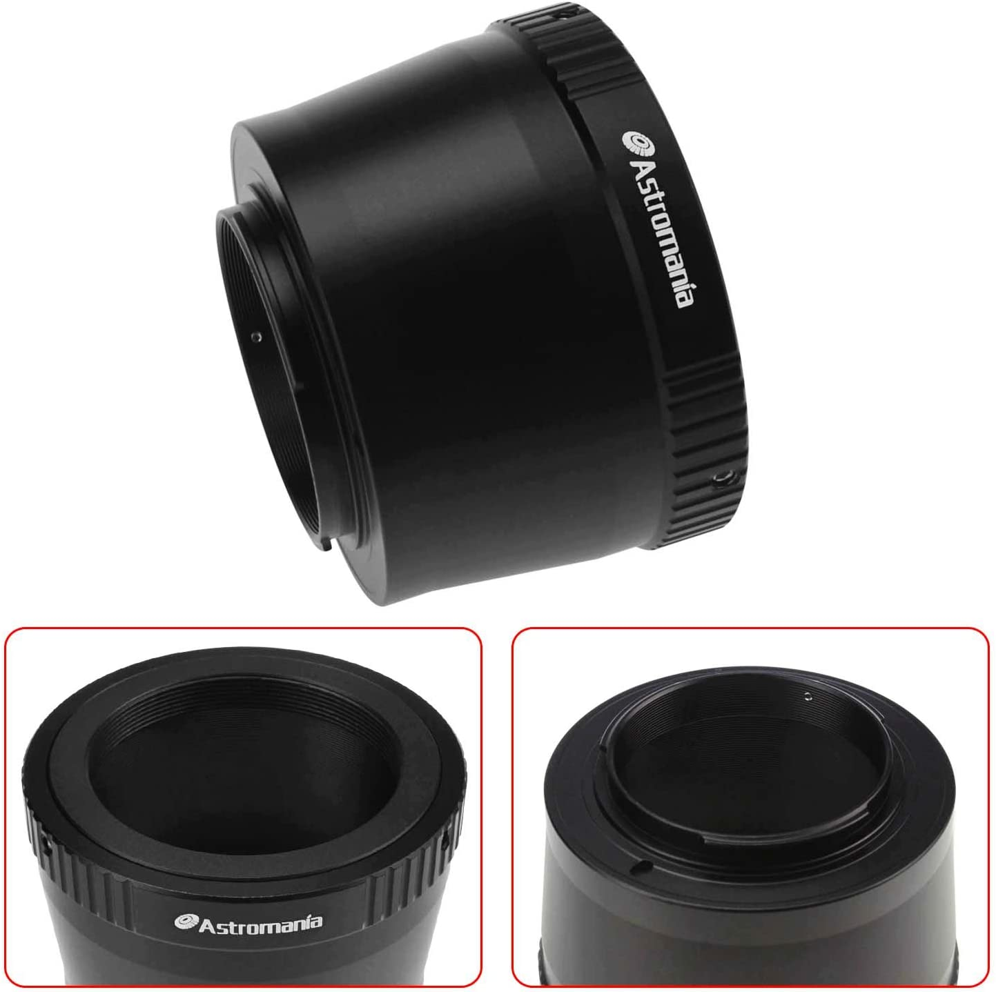 for Sony-NEX Camera T-Mount Precision machined T2 Adaptor Ring for All Sony NEX Compact System Cameras Astromania T//T2 Lens Mount Adapter Ring and M42 to 1.25 Telescope Adapter