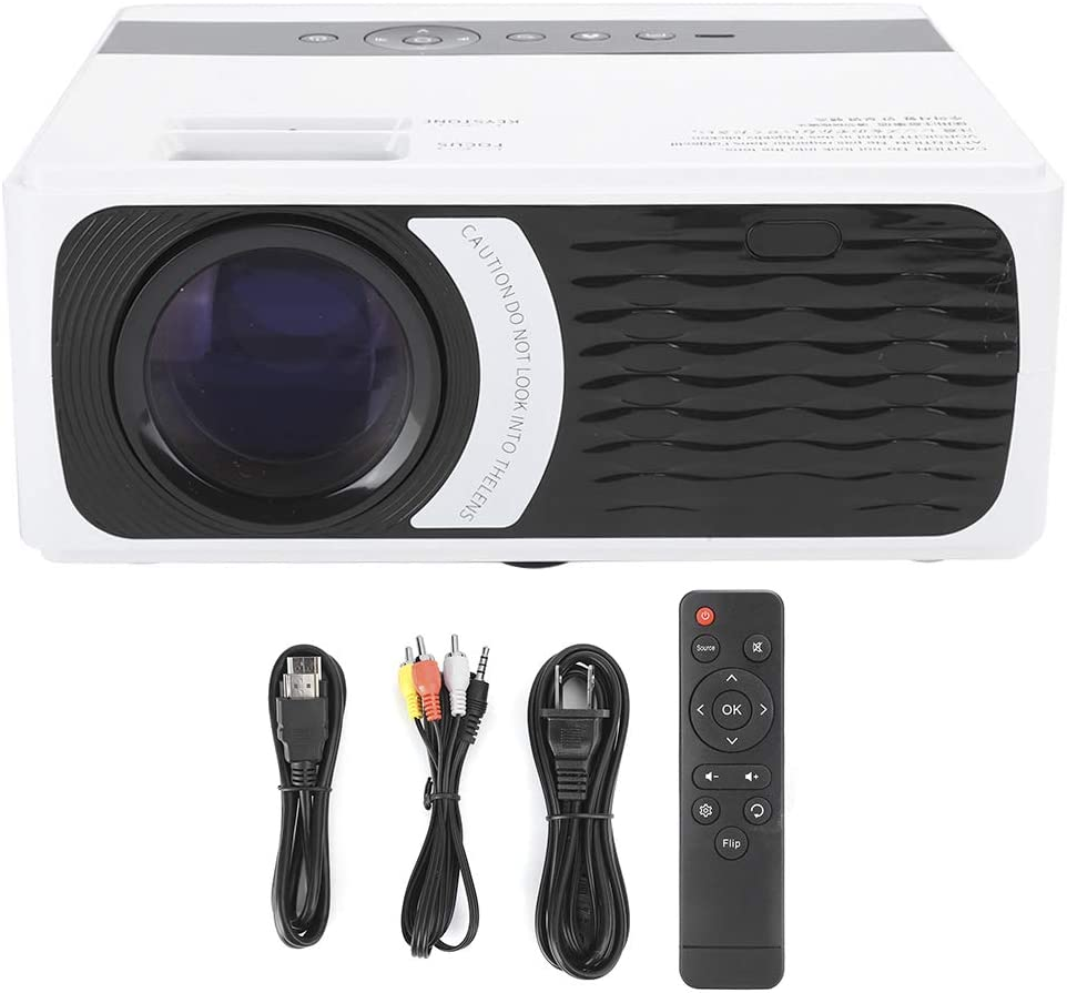 WiFi Projector Highlight Smart Wireless Home Theater Projector Dual HDMI Household Projector Multimedia Home Theater Cinema Projector for with Smooth Clear Picture (US Plug 100‑240V)