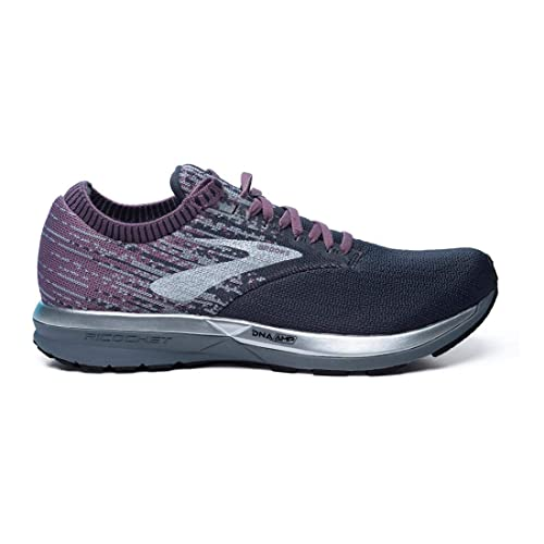 6e028a39f47 Brooks Womens Ricochet - Black Grey Arctic Dusk - B - 9.0  Amazon.co.uk   Shoes   Bags