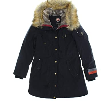 1 Madison Expedition Women's Faux-Fur Trim Hooded Anorak Parka ...