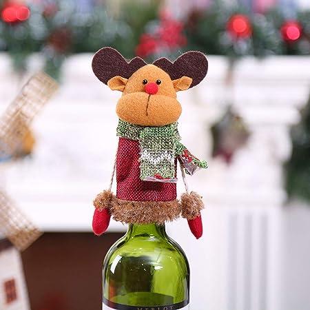 Factorys Preciosa Tapa de Botella de Vino de Navidad Santa Doll, muñeca de Botella de Vino Hecha a Mano para Decoraciones navideñas Decoraciones de Fiesta de Navidad Encantadora Santa Doll: Amazon.es: Hogar