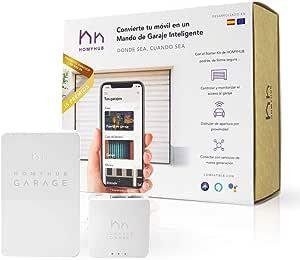 HOMYHUB Starter Kit   Mando a Distancia Garaje WiFi - Mucho más que Abrir Puerta de Garaje con tu Movil y Voz - Controla max 2 puertas por Starter Kit