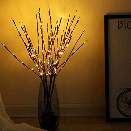 JIA LED Willow Zweig Lampe Zweig Lichter Zweige String Light Vase ...
