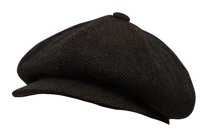 04c4e0aaaa2e2f Viva-la-Rosa Mens VTG 1920's 30's 40's Grey Herringbone Baker Newsboy 8  Panel Cap Hat: Rosa Rosa: Amazon.co.uk: Clothing