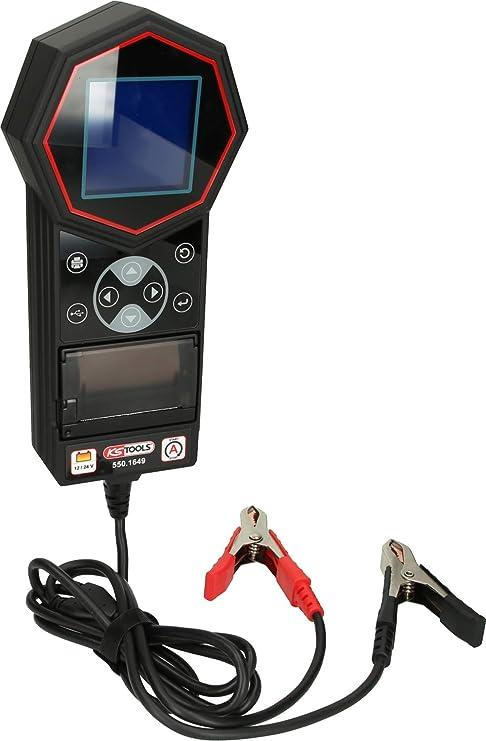 Ks Tools 550 1649 12v 24v Digital Batterie Und Ladesystemtester Mit Integriertem Drucker Auto