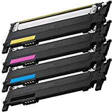 1 Set of 4 Inkfirst® Toner Cartridges CLT-K406S, CLT-C406S, CLT-M406S, CLT-Y406S, Black, Cyan, Magenta, Yellow Compatible Remanufactured for Samsung CLP-365 CLP-360 CLP-365 CLP-365W CLX-3305 CLX-3305FN CLX-3305FW Xpress C410W C460FW