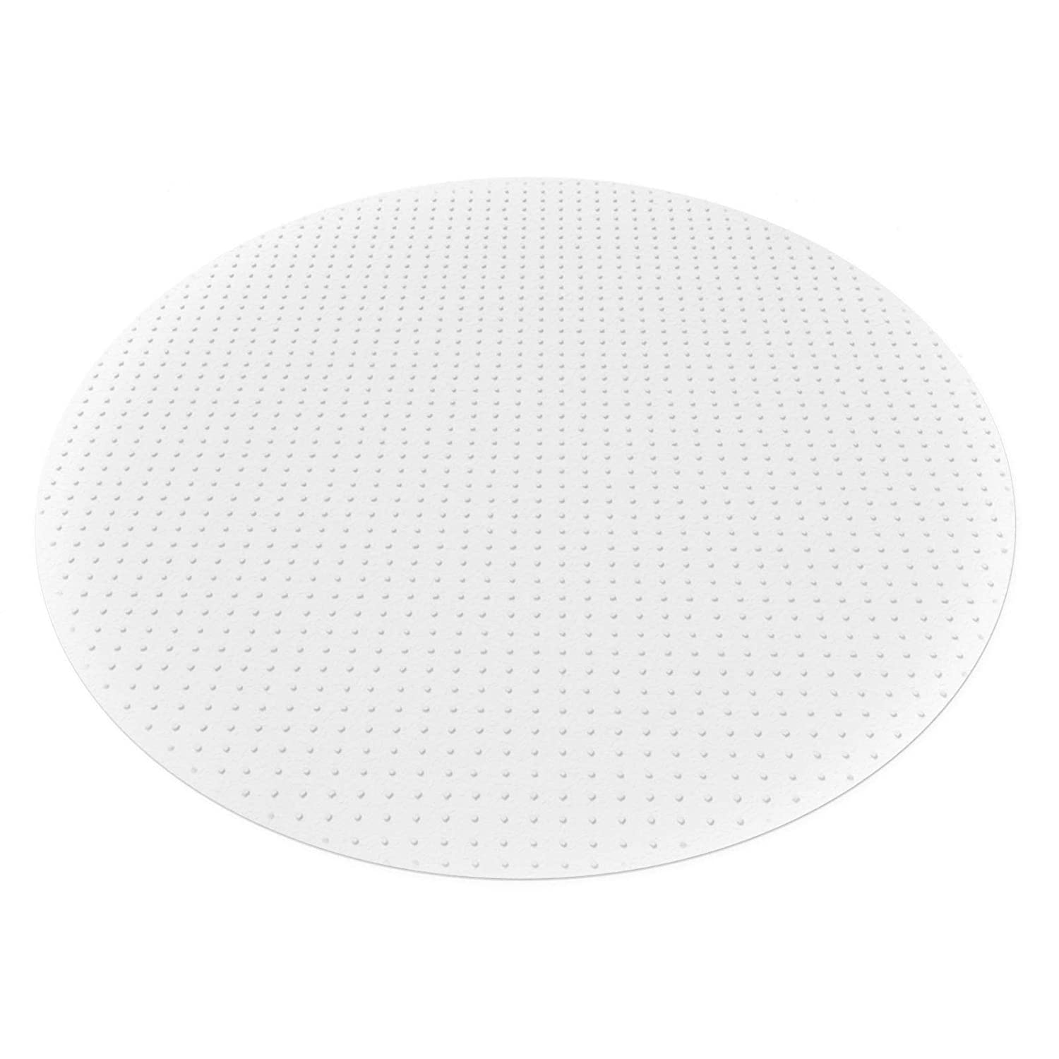 etm Polycarbonate Non Slip Chair Mat for Carpets | Round | 60cm Diameter | 3 Sizes