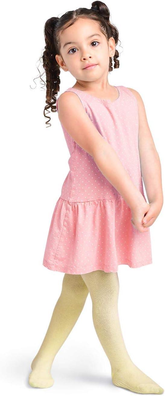 LA Active Collants Fille B/éb/é Enfant Bas /âge Enfant Antid/érapants//Antiglissements Coton Gris//Cr/ème//Bleu Marin, 2-3 Ans 3 Paires
