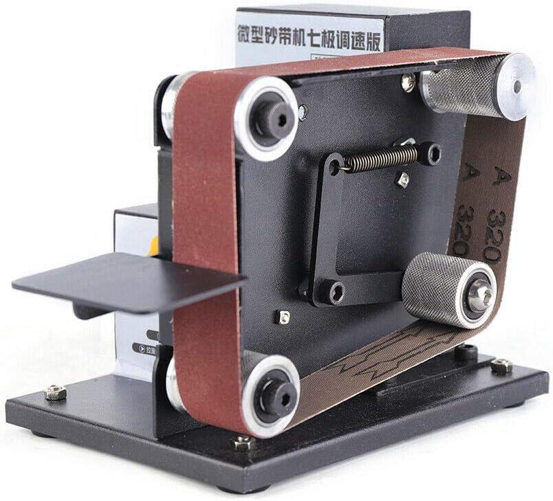 Details about  /DIY Electric Belt Sander Polishing Grinding Mini Grinder 7 Gears Adjustable O1Z6