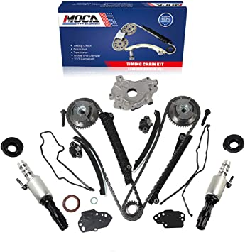 MOCA Timing Chain Kit /& Oil Pump /& Water Pump Kit /& VVT Solenoid /& Timing Cover Gasket for 05-08 Ford Expedition//F-250 Super Duty//F-350 Super Duty /& Lincoln Navigator 5.4L V8