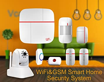 eyes4u WiFi inalámbrica GSM SMS Android IOS App Principal Bullnet vídeo Sistema de alerta de seguridad Detector de metales con cámara IP Medical mergency ...