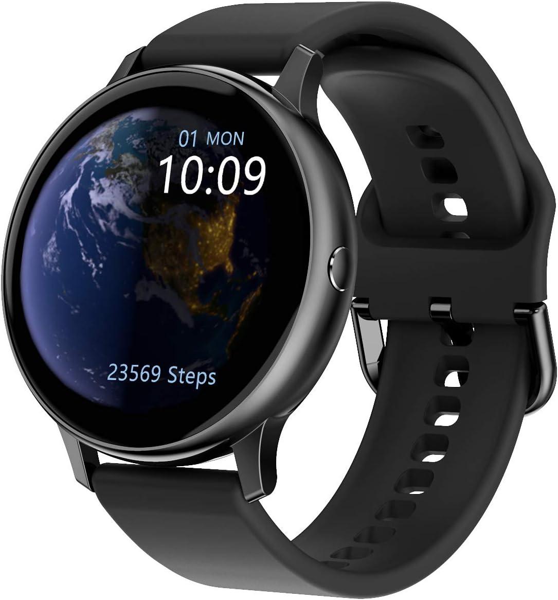 Relojes Inteligentes con rastreador de sueño por Pasos de frecuencia cardíaca, Reloj Inteligente a Prueba de Agua IP67 para niños, Hombres y Mujeres, Compatible con teléfonos iPhone Android