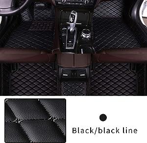 Car Floor Mat Custom Made For 95% of Car Models Full Coverage Interior Protection Waterproof Non-Slip Leather Mat Black