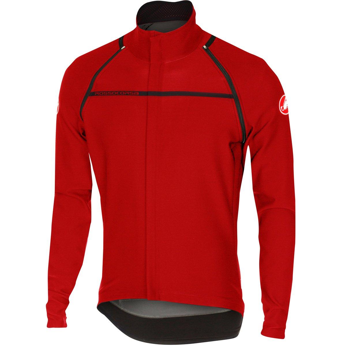 CastelliメンズPerfetto Convertible Cycling Jacket B01LQWOV3C Medium レッド レッド Medium