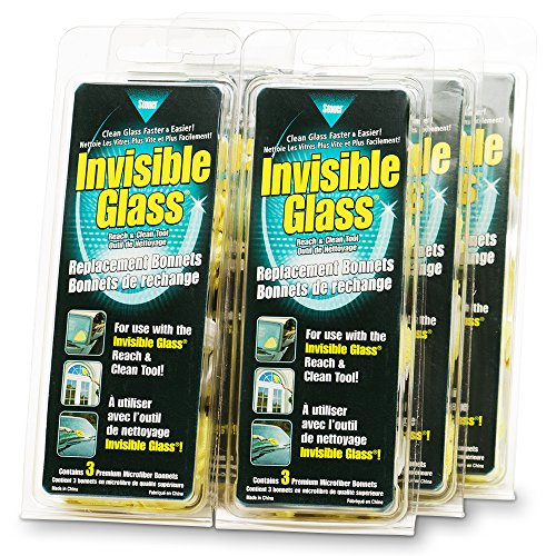 Invisible Glass 95183-6PK Reach and Clean Tool Replacement Bonnet, 6 (Replacement Bonnet)
