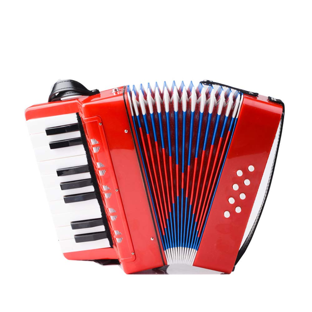 TECHLINK Children's Accordion Musical Toy Promotes Early Musical Education 17 Keys 8 Bass Button Accordions for Beginners Students Childern,Purple by TECHLINK (Image #4)