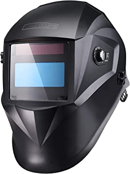 1//1//1//1 PAH03D Wide Shade Range DIN 3//4-8//9-13 Pro Welding Helmet with Highest Optical Class Larger Viewing Area 3.94x2.87 Grinding Feature for TIG MIG MMA Plasma 6Pcs Replacement Lenses