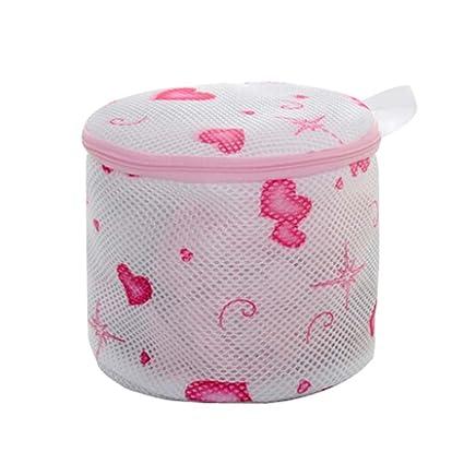 3 pcs lavable en lavadora bolsas cilíndrico ropa interior bolsas para ropa sucia (diseño de