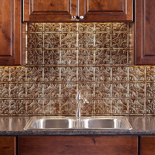 thermoplastic panels kitchen backsplash fasade easy installation traditional 1 bermuda bronze 6095