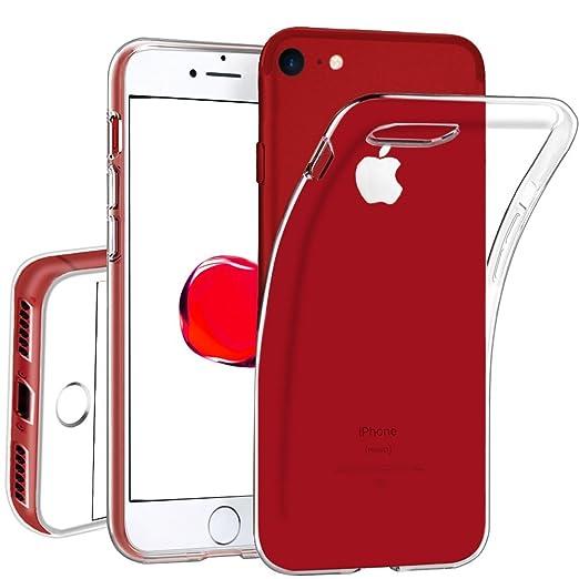 3 opinioni per Custodia iPhone 7 , Ultra sottile e leggero Premium trasparente [Protezione
