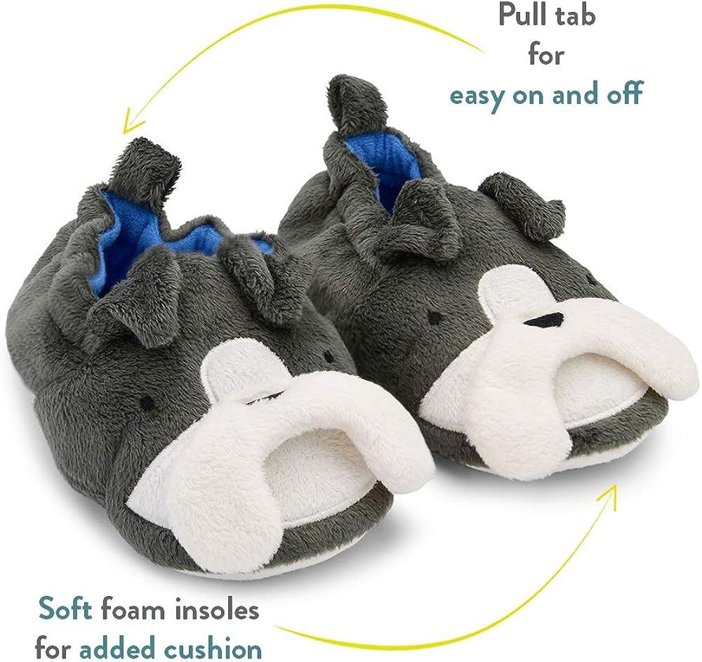 Baby Unisex Infant Girls Boys Toddler Goldbug Kids Super Soft Plush Non-Slip Gripper Slippers