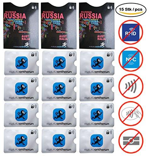 15x RFID Blocking (MOTRTM Family Pack): 3x Deutscher Reisepass, 12x Kreditkarten Schutzhüllen (Personalausweis, Kreditkarten, EC-Karten). RFID NFC Schutz vor elektronischem Diebstahl, Betrug & Kratzer!