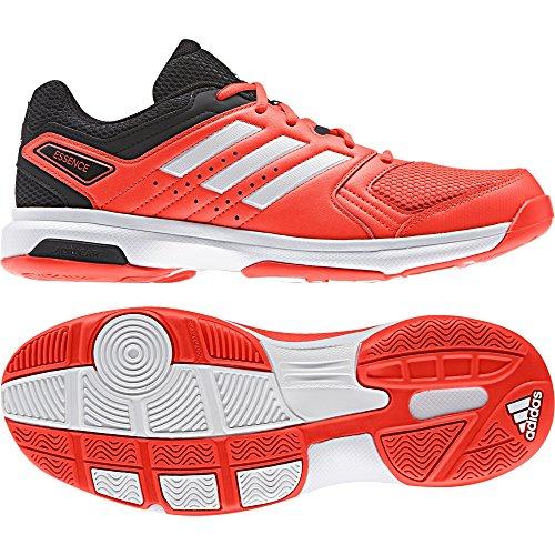adidas Essence, Zapatillas de Balonmano Unisex Adulto Rojo (Solar Red/footwear White/core Black)