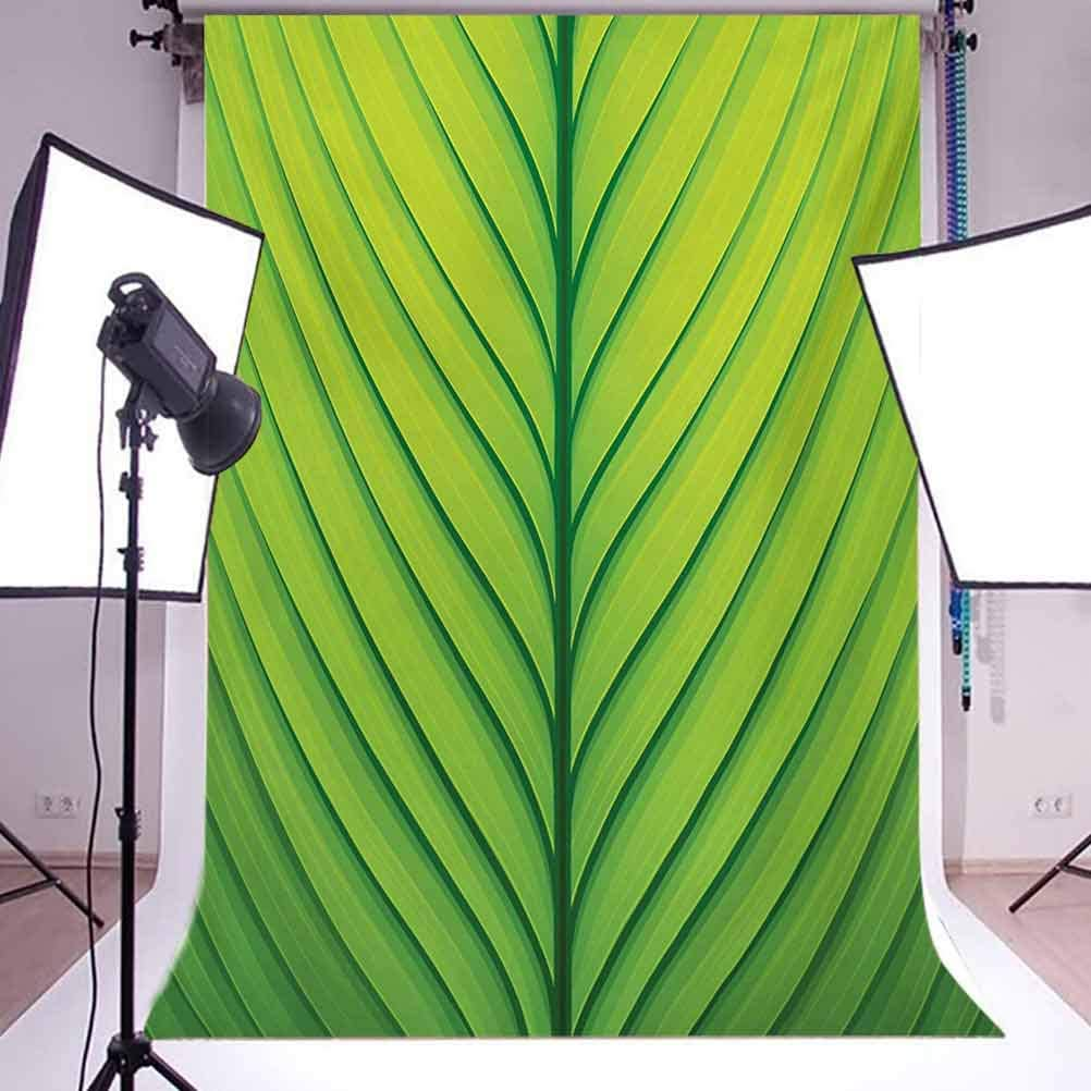 10x15 FT Photography Backdrop Wavy Striped Texture of a Green Leaf Macro Close Up Graphic Fresh Plant Background for Kid Baby Boy Girl Artistic Portrait Photo Shoot Studio Props Video Drape Vinyl