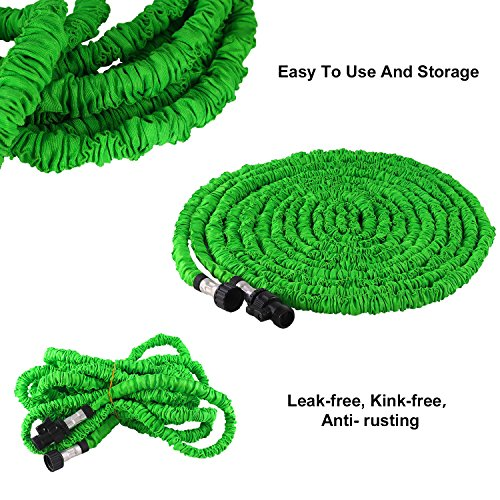 Waterpal Garden Hose 75ft Expandable Water Triple Layer Latex Core, Stamped Aluminum Joints & Extra Strength Fabric Car Wash Use, Green by Waterpal (Image #3)