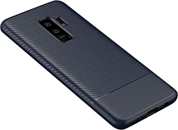 ZSCHAO Funda Galaxy S9 Plus S9+ Fibra de Carbono + Cristal ...