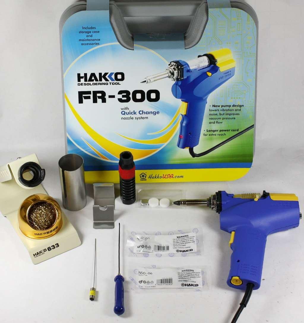 Hakko FR-300 Desoldering Tool with N50-01/N50-06 Nozzles & 633-01