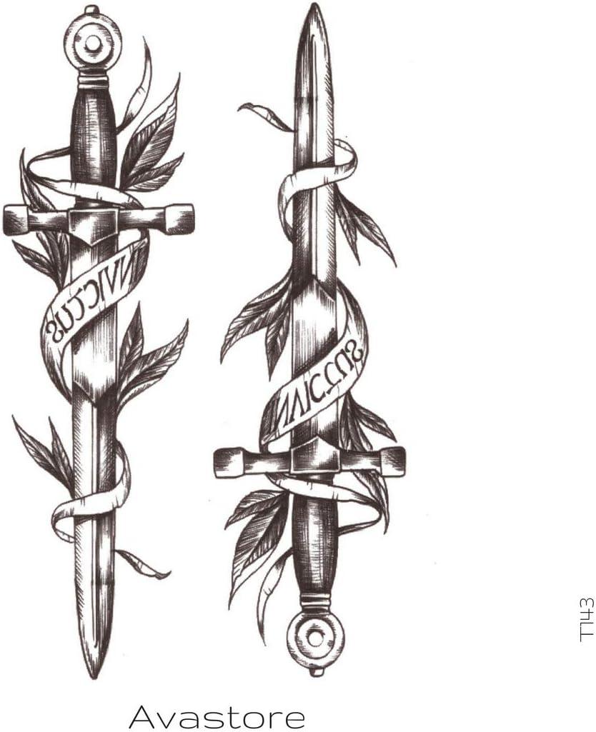 Tatuaje Temporal Espada tatuaje efímero espada – avastore: Amazon ...