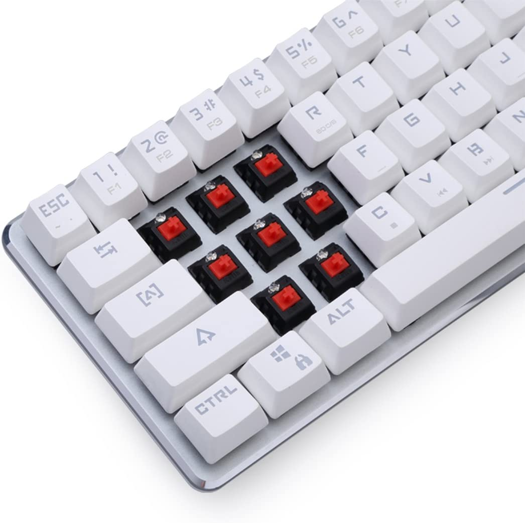 Qisan® Teclado Gaming mecánico retroiluminado Wired teclado Mini ...