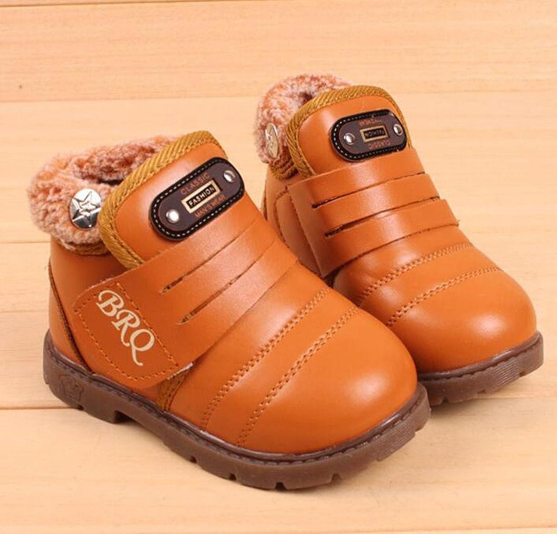 Richarde Winter Snow Boots Girls Boys Waterproof Pu Leather Bootie:  Amazon.ca: Shoes & Handbags