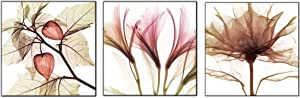Canvas Wall Art Abstract Brown Flowers Canvas Print 36