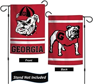 """University of Georgia Bulldogs 12.5"""" x 18"""" Double Sided Yard and Garden College Banner Flag is Printed in The USA (Vault)"""