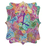 Deny Designs  Stephanie Corfee, Flourish allover, Quatrefoil Clock, Medium