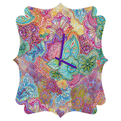 Deny Designs  Stephanie Corfee, Flourish allover, Quatrefoil Clock, Medium by Deny Designs