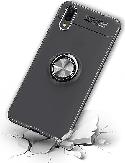 reputable site f7fcf bb5e0 Bounceback Vivo Nex Back Case Cover Shock Proof Ring Stand Back Cover for  Vivo Nex - Jet Black