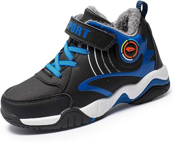 Zapatillas de Correr para niños Moda de Invierno Zapatillas Altas Zapatillas de Colegio cómodas Forro de Felpa Calza Zapatos para niños: Amazon.es: Zapatos y complementos