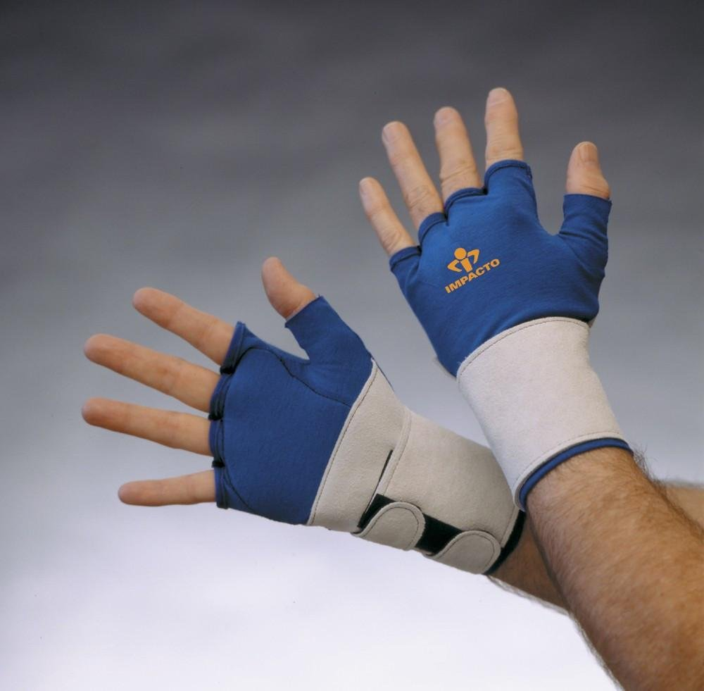 Impacto Ergonomic Anti-Impact Glove with Wrist Support - Single Glove (One Hand) - X-small - Both (Left and Right)