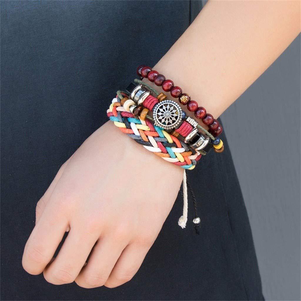 Libobo Beaded Bracelet DIY Leather Combination Set Hemp Rope Woven Hand Rope