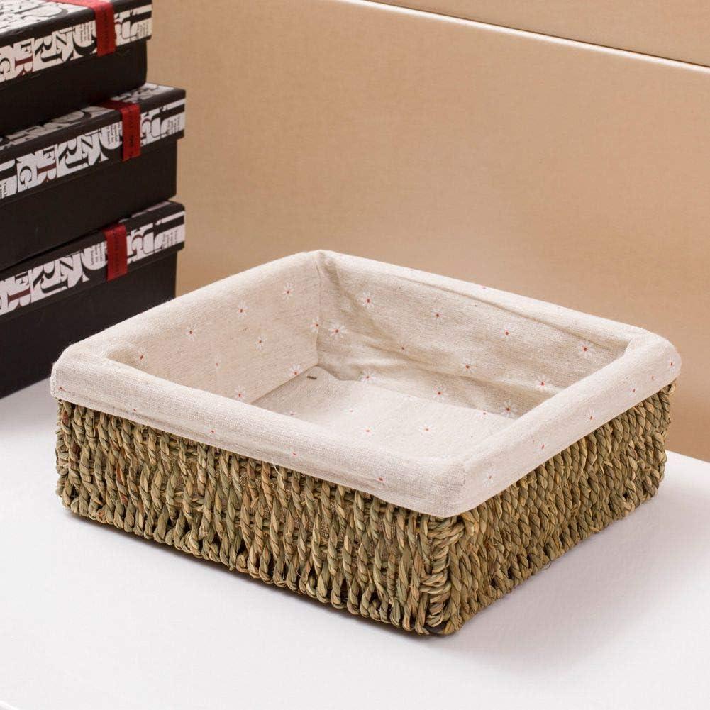 Anpay Multifunctional Woven Basket Storage Basket for Closet Bedroom Office Bathroom Entryway