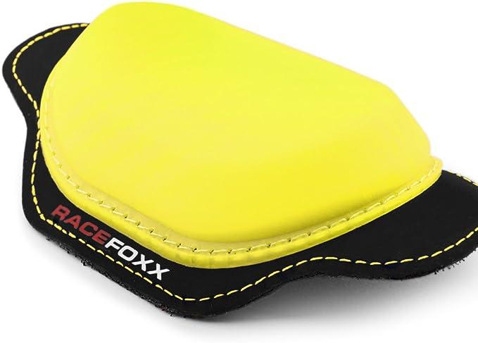 Racefoxx Knieschleifer Knieprotektor Schleifer Protektor Lederkombi Paar Neon Gelb Auto