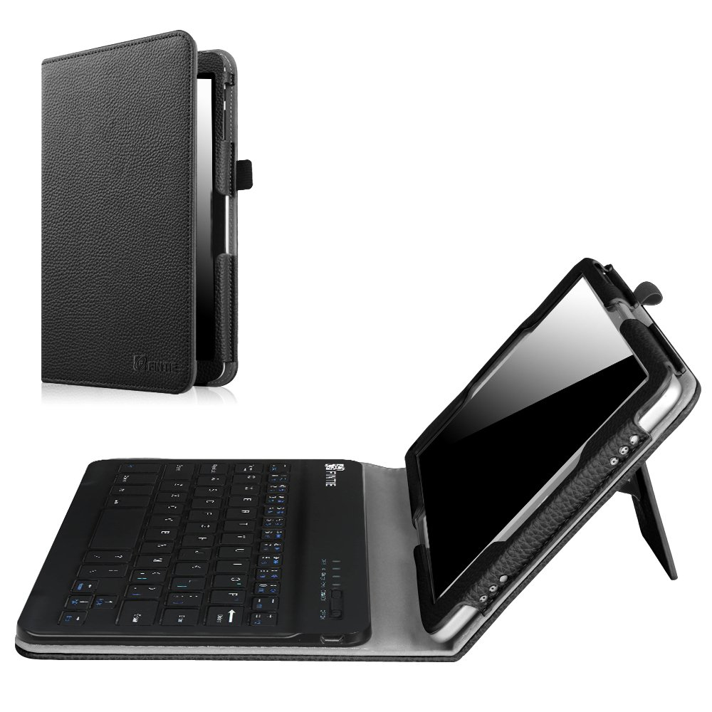 Fintie Keyboard Case for 2016 NuVision TM800W560L/2017 NuVision TM800P610L/Solo 8'' TM800W610L/TM800W630L 8-Inch Windows Tablet, Folio PU Leather Cover with Removable Bluetooth Keyboard, Black